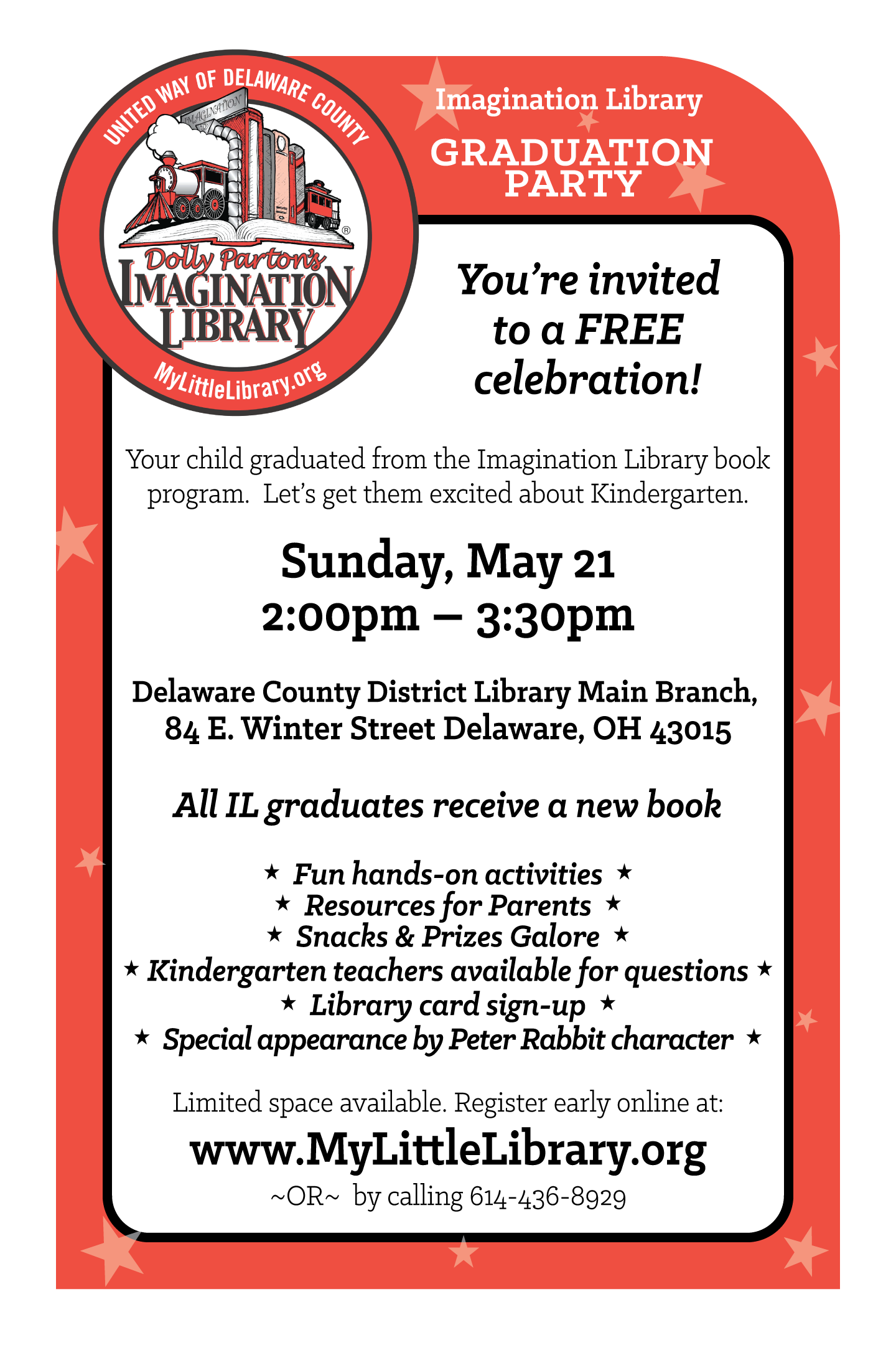 Imagination Library Graduation Invitation